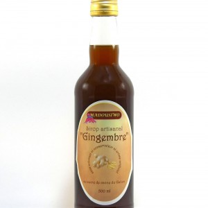 Sirop de Gingembre en bouteille de 500 ml