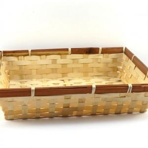 Panière en bambou rectangulaire