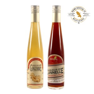 LIQUEUR DES ANTILLES en duo Cannelle & Gingembre 2 x 350 ml 25°