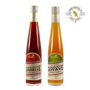 LIQUEURS DES ANTILLES en duo Goyave & Cannelle 2 x 350 ml  25°