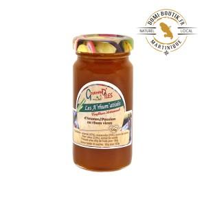 Confiture artisanale Ananas & Passion au rhum vieux 120 g